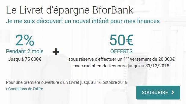 livret bforbank 50 euros