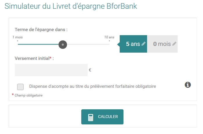 livret bforbank simulation